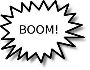 Boom clipart black and white. Panda free images