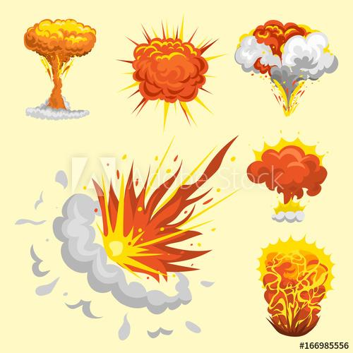 Boom clipart blast. Cartoon explosion effect animation