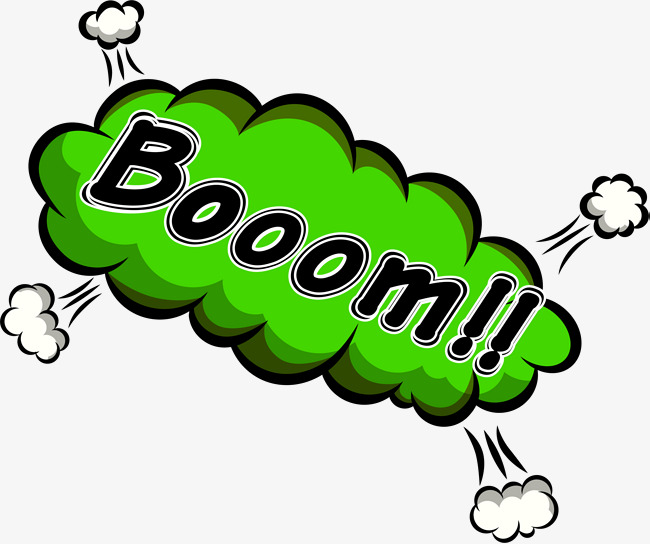 Green explosion png image. Boom clipart blast