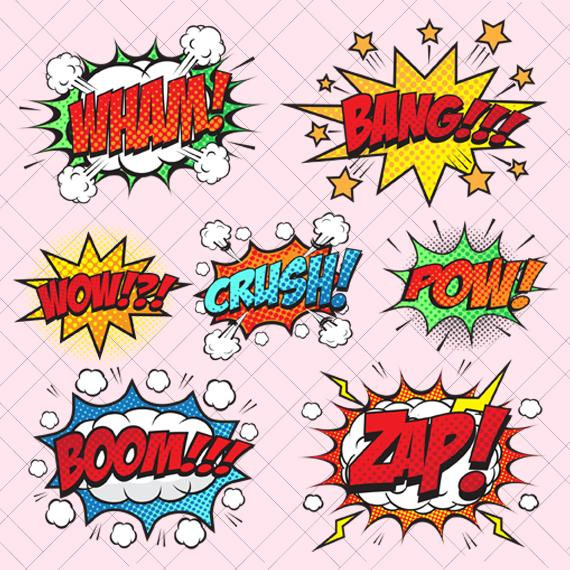 Bang cut file comic. Boom clipart blast