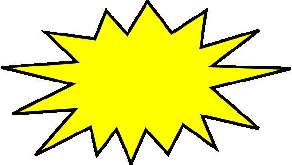 Boom clipart blast. Yellow clip art at