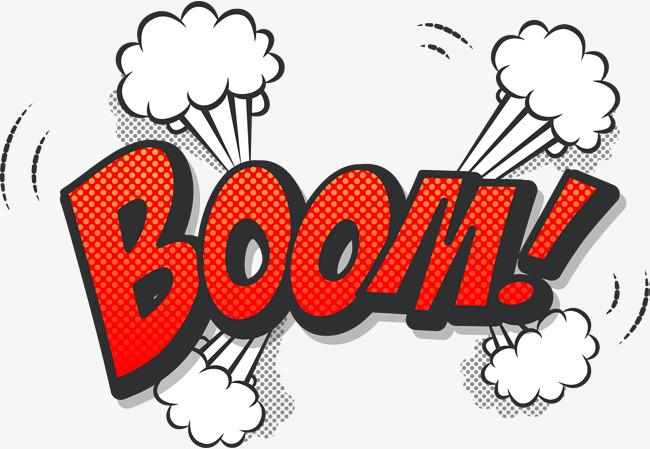 Boom clipart blast. Orange explosion png image