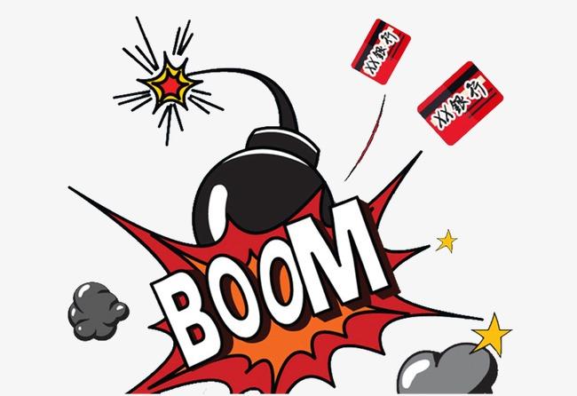 English element comics png. Boom clipart bomb