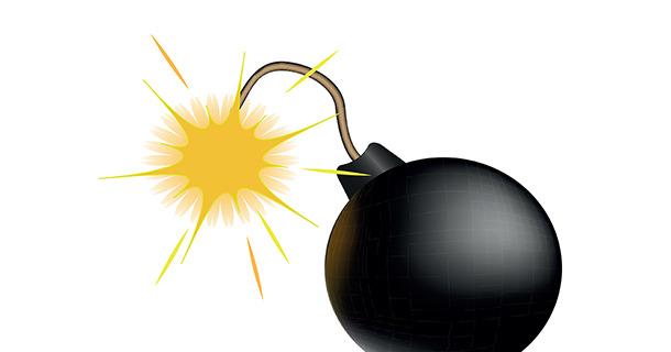 Fox orders defusing trivia. Boom clipart bomb
