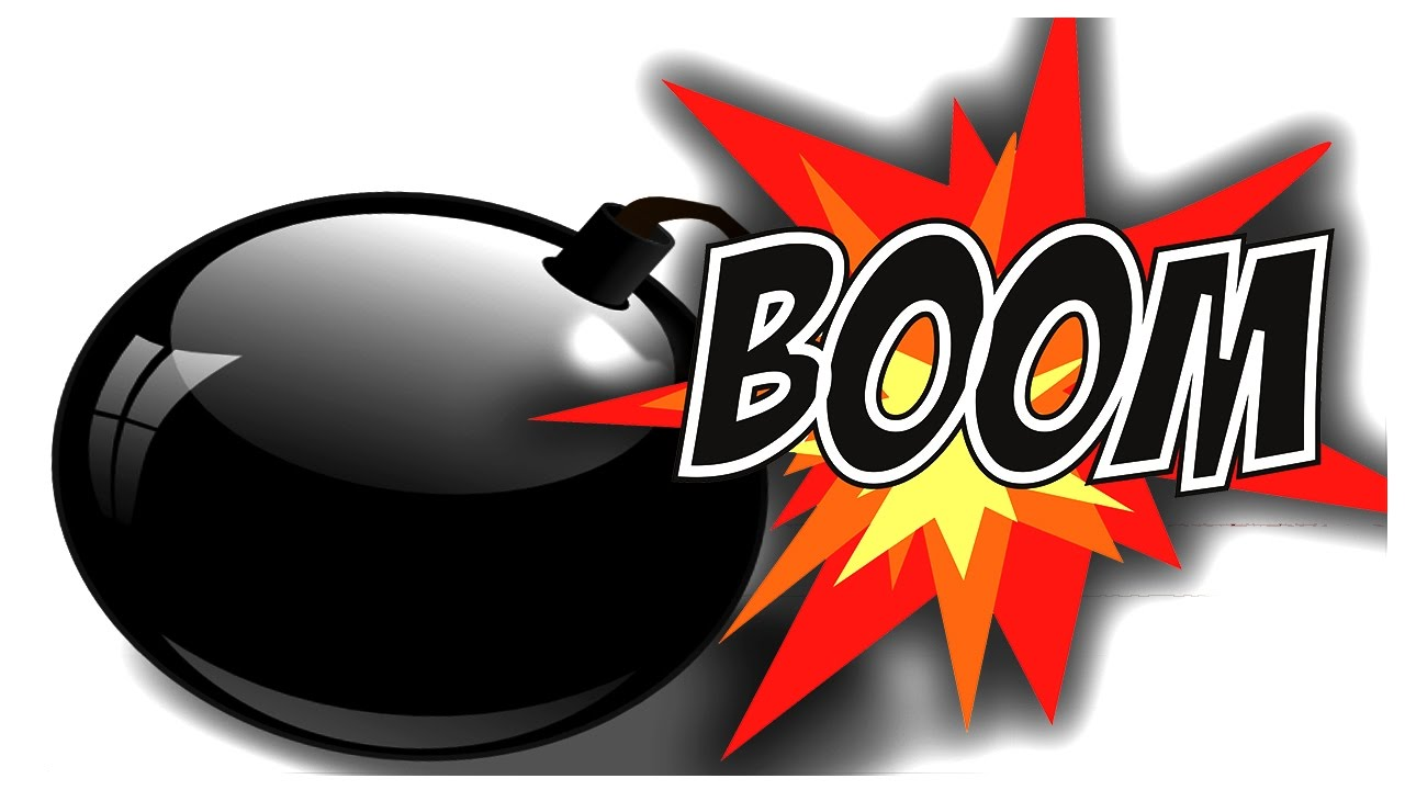 Boom clipart bomb. Squad academy b let