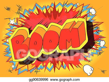 Vector stock comic book. Boom clipart boom word