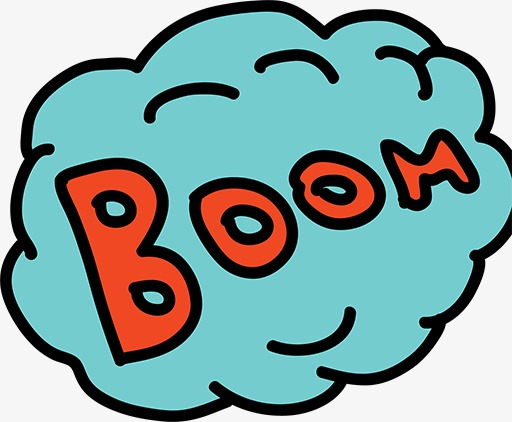 Boom clipart boom word. Cartoon fonts stick figure