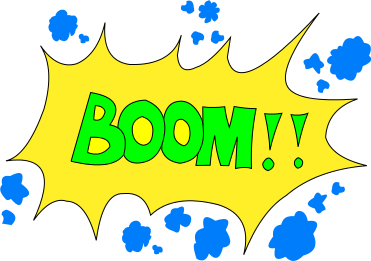 Signs symbol words png. Boom clipart boom word