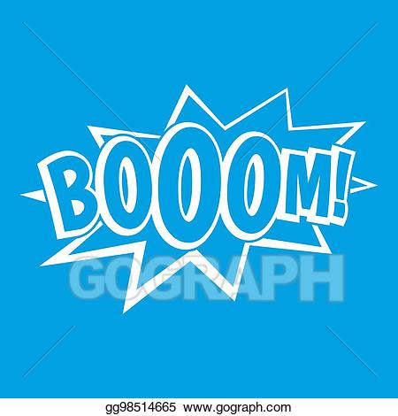 Boom clipart bubble. Drawing explosion icon white