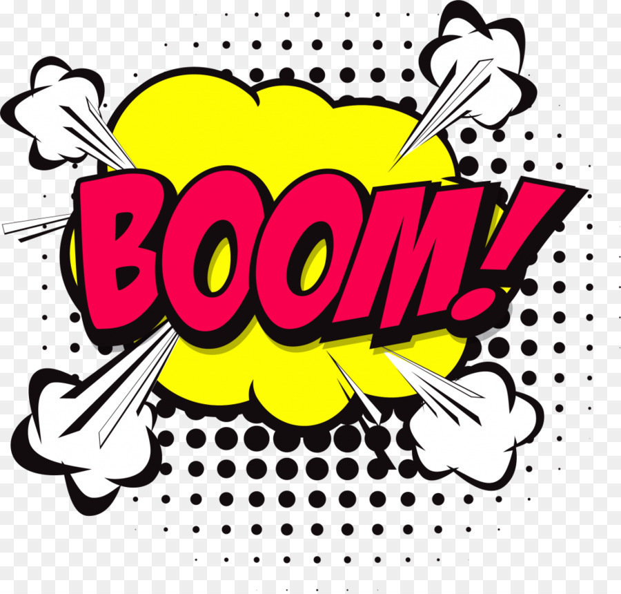 Comic book text yellow. Boom clipart bubble