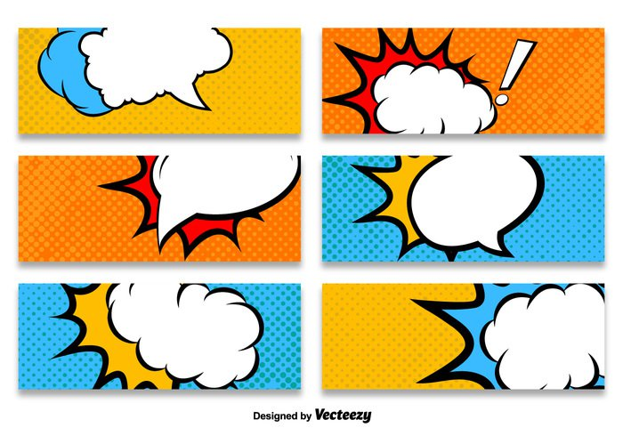 Boom clipart callout. Cartoon style banner vector