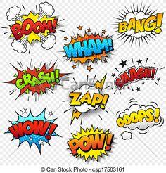 Superhero clip art text. Boom clipart comic book