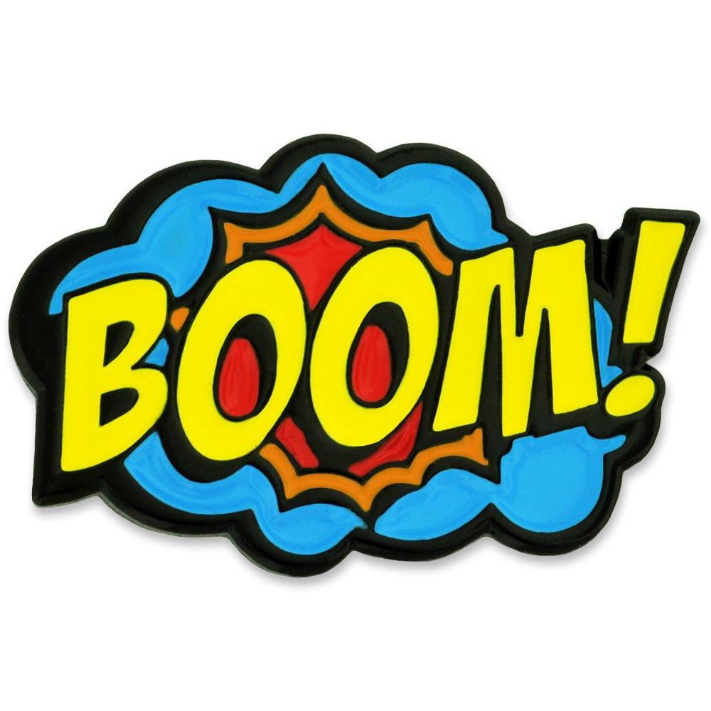 Boom clipart comic book. Pinmart art enamel lapel