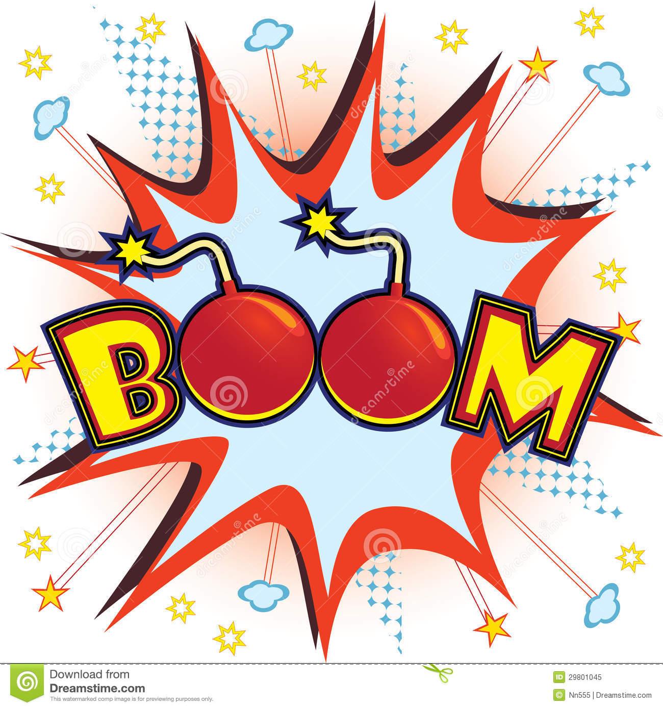 . Boom clipart comic book