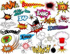 Boom clipart comic strip. Books vintage comics logo