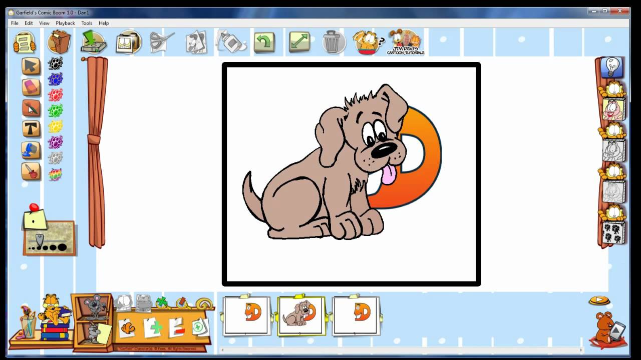 Boom clipart comic strip. Garfield s software by