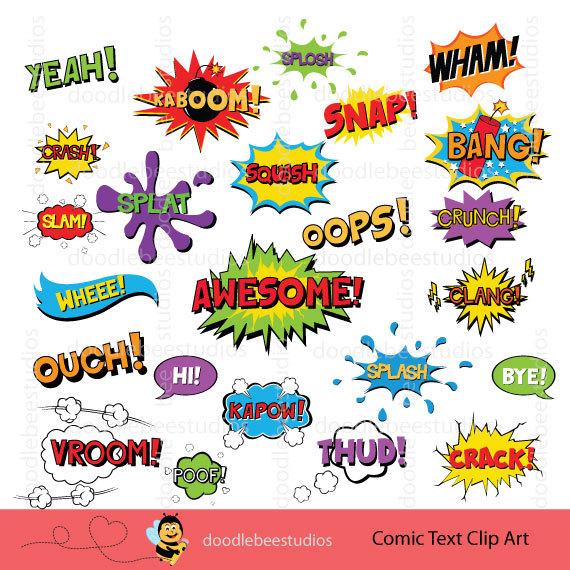 Book superhero text clip. Boom clipart comic strip