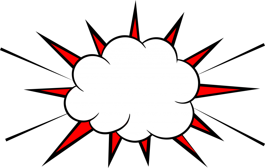 comic vector png. Explosion clipart boom