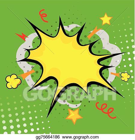 Boom clipart explosive. Vector art cartoon bang