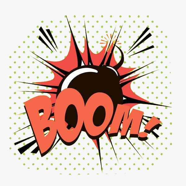 Explosion cartoon png image. Boom clipart explosive