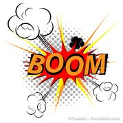 Free comic explosion and. Boom clipart explosive