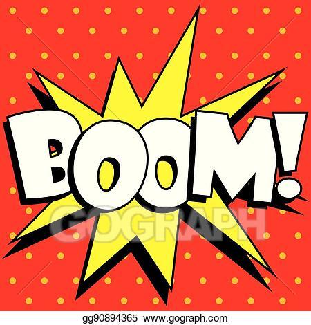 Vector art cartoon explosion. Boom clipart explosive