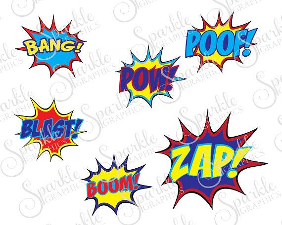 Bang blast cut superhero. Boom clipart file