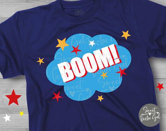 Boom clipart file. Svg hero shirt dxf