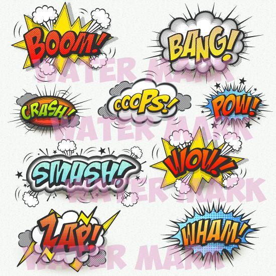 Boom clipart file. Bang blast cut superhero