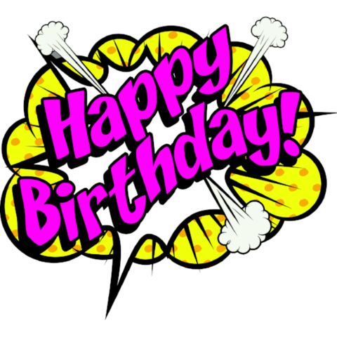 Window cling decorations party. Boom clipart happy birthday