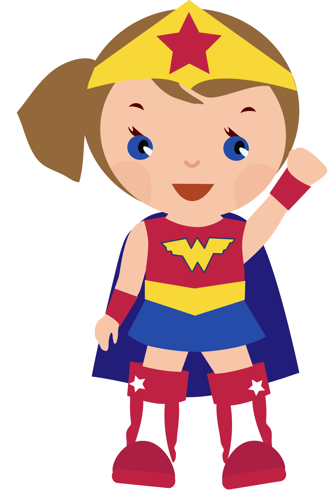 Superhero girl super hero. Yearbook clipart cartoon