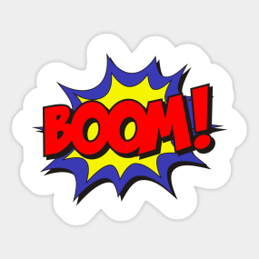 Stickers teepublic sticker. Boom clipart kapow