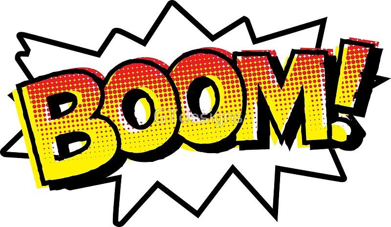 Comic art print . Boom clipart onomatopoeia