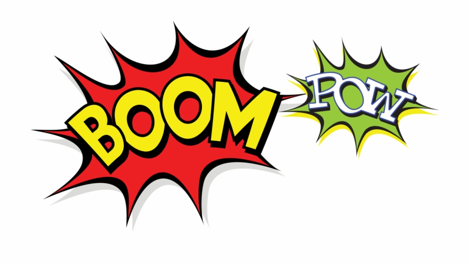 Boom clipart pow. Png free images download