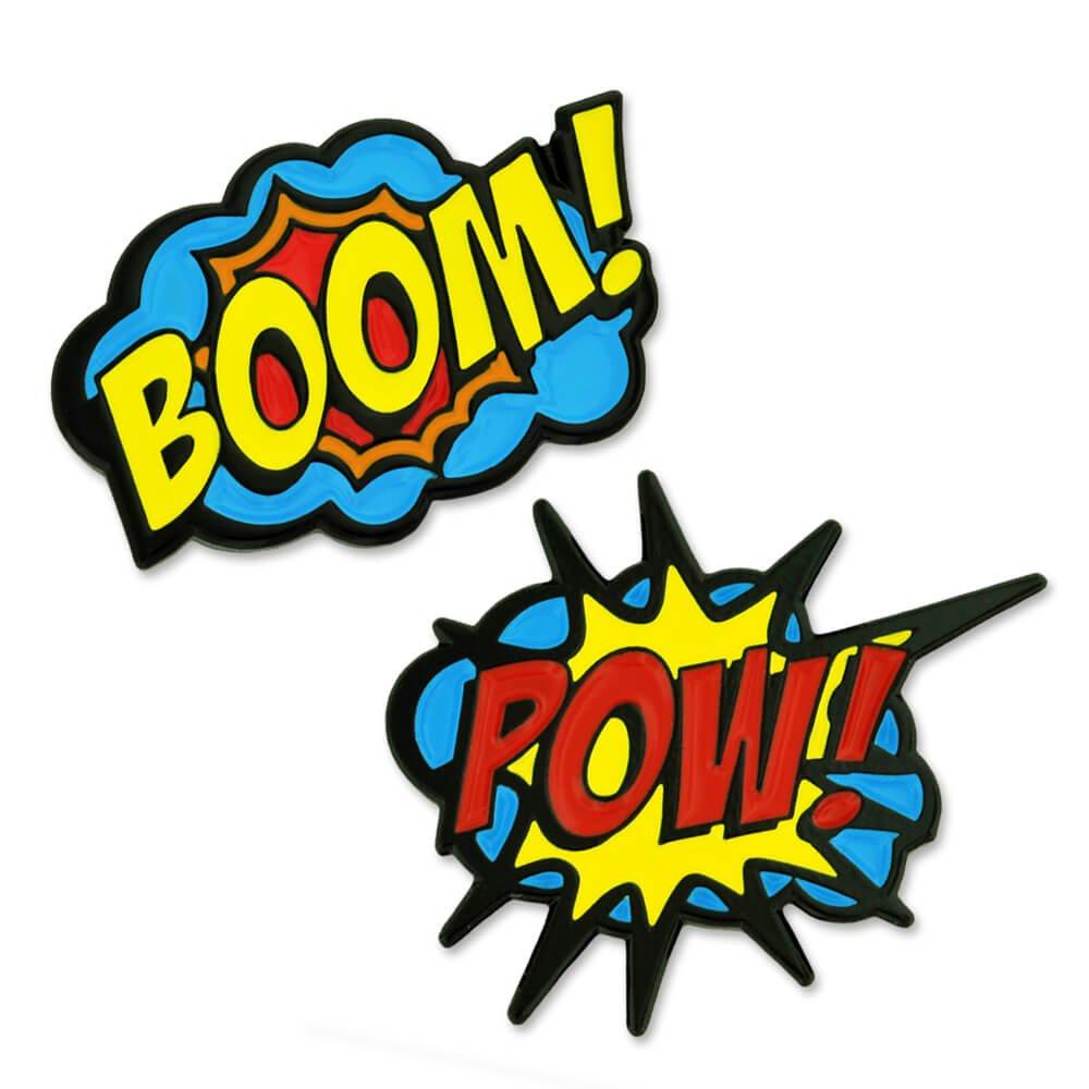 Pinmart trendy action comic. Boom clipart pow