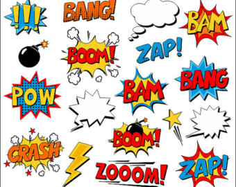 Boom clipart pow wow. And or zap etsy