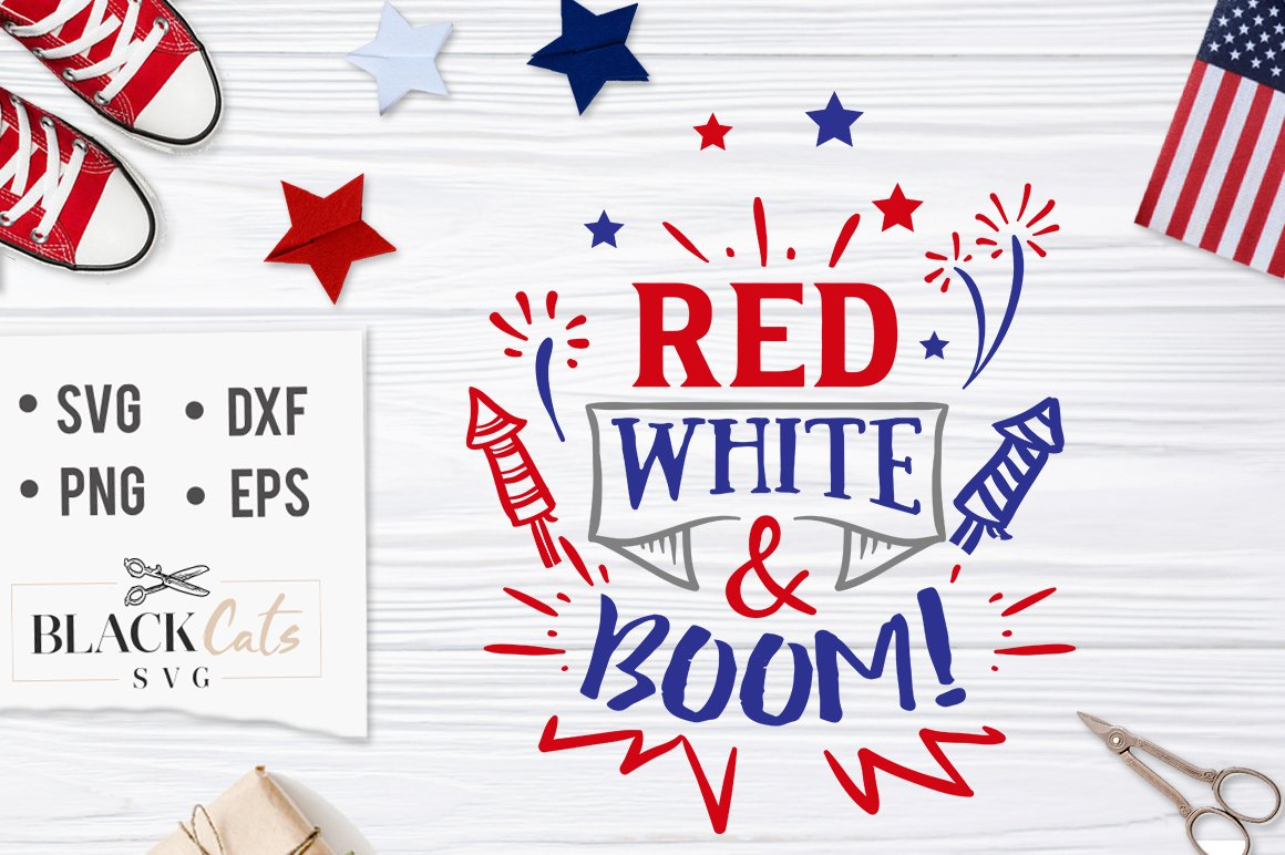 White svg file cutting. Boom clipart red