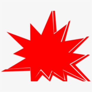 Explosion super hero background. Boom clipart red