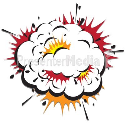 Bomb clipart cloud. Explosion scraps presentation great