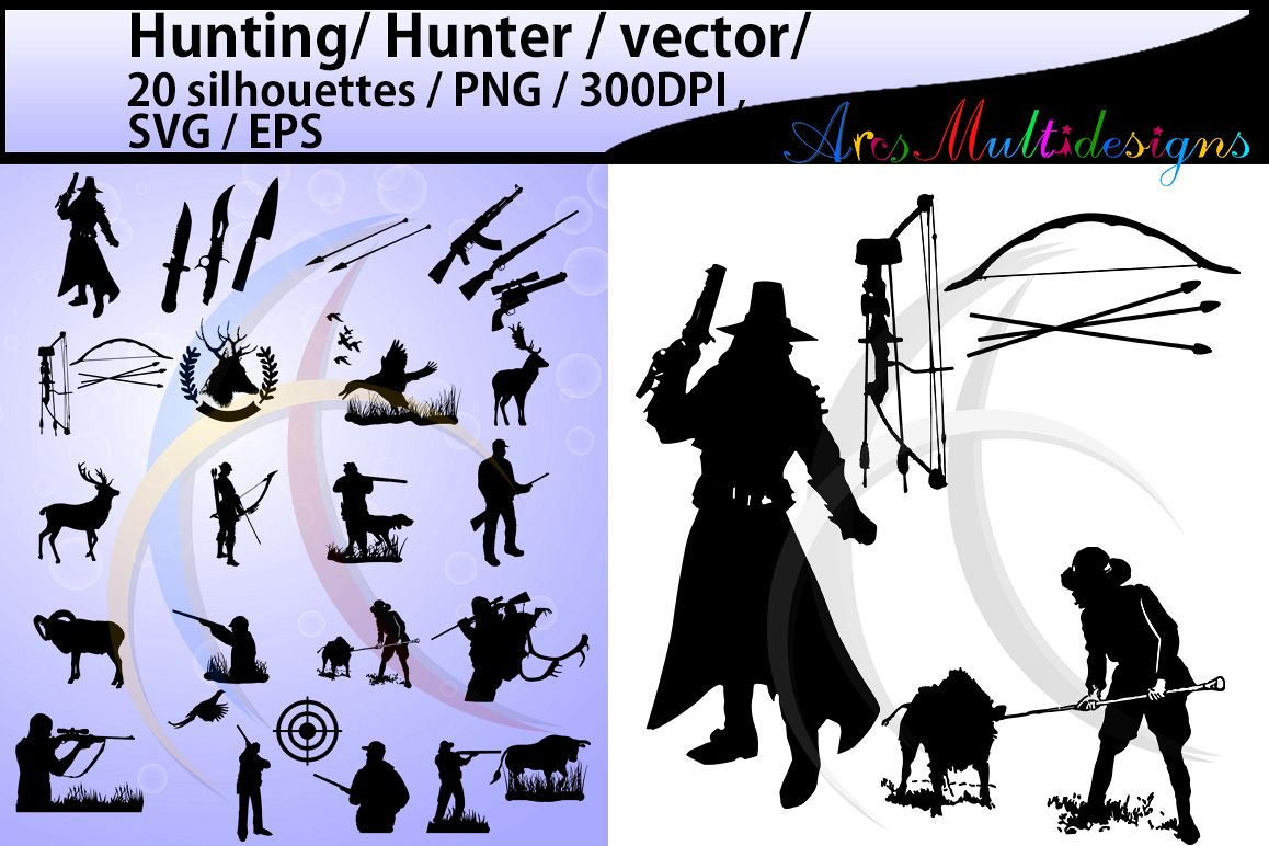 Svg silhouette high design. Hunting clipart vector