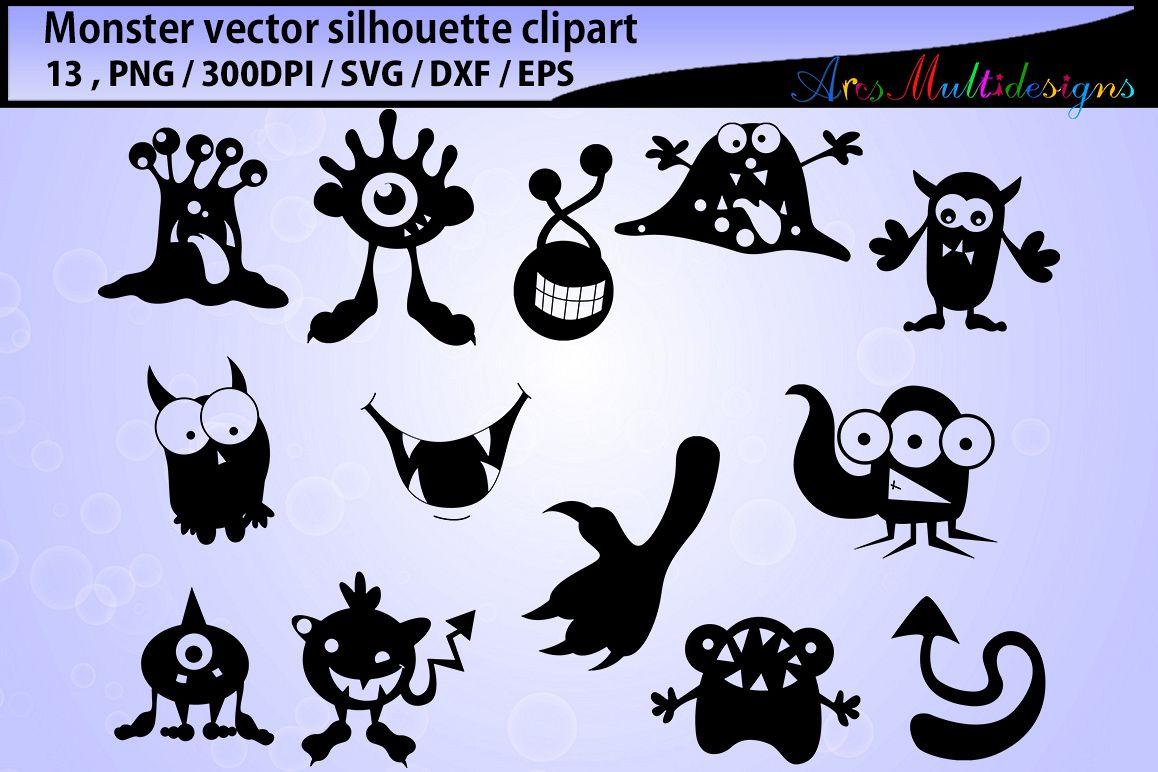 Monster cute monst design. Boom clipart silhouette