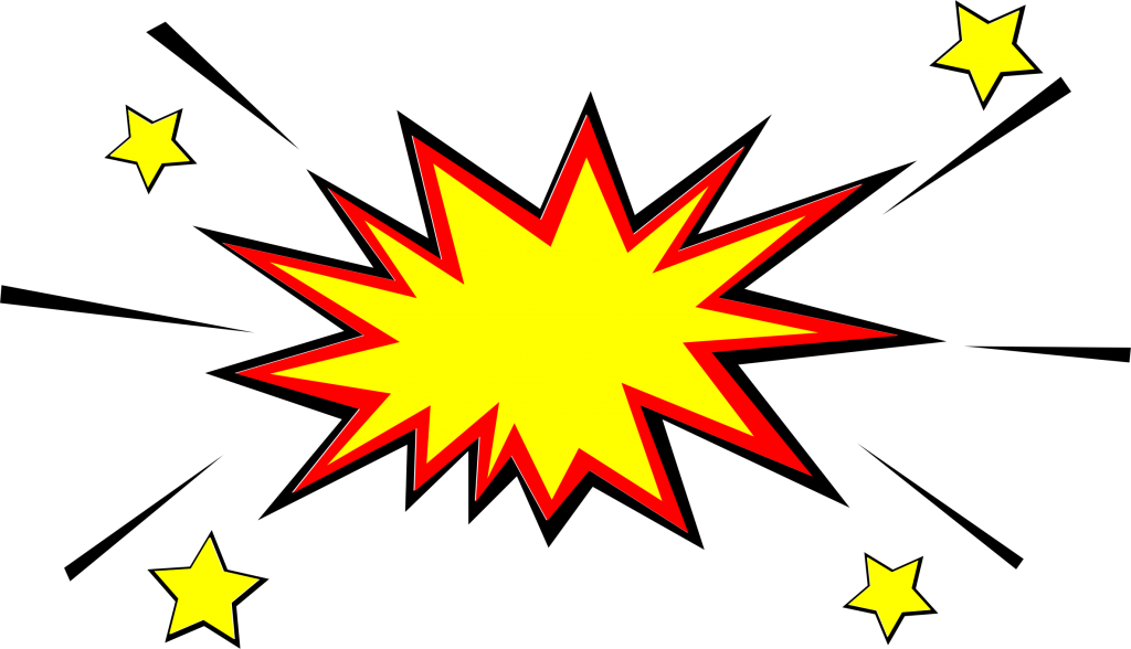 Star vector png.  comic explosion bubble
