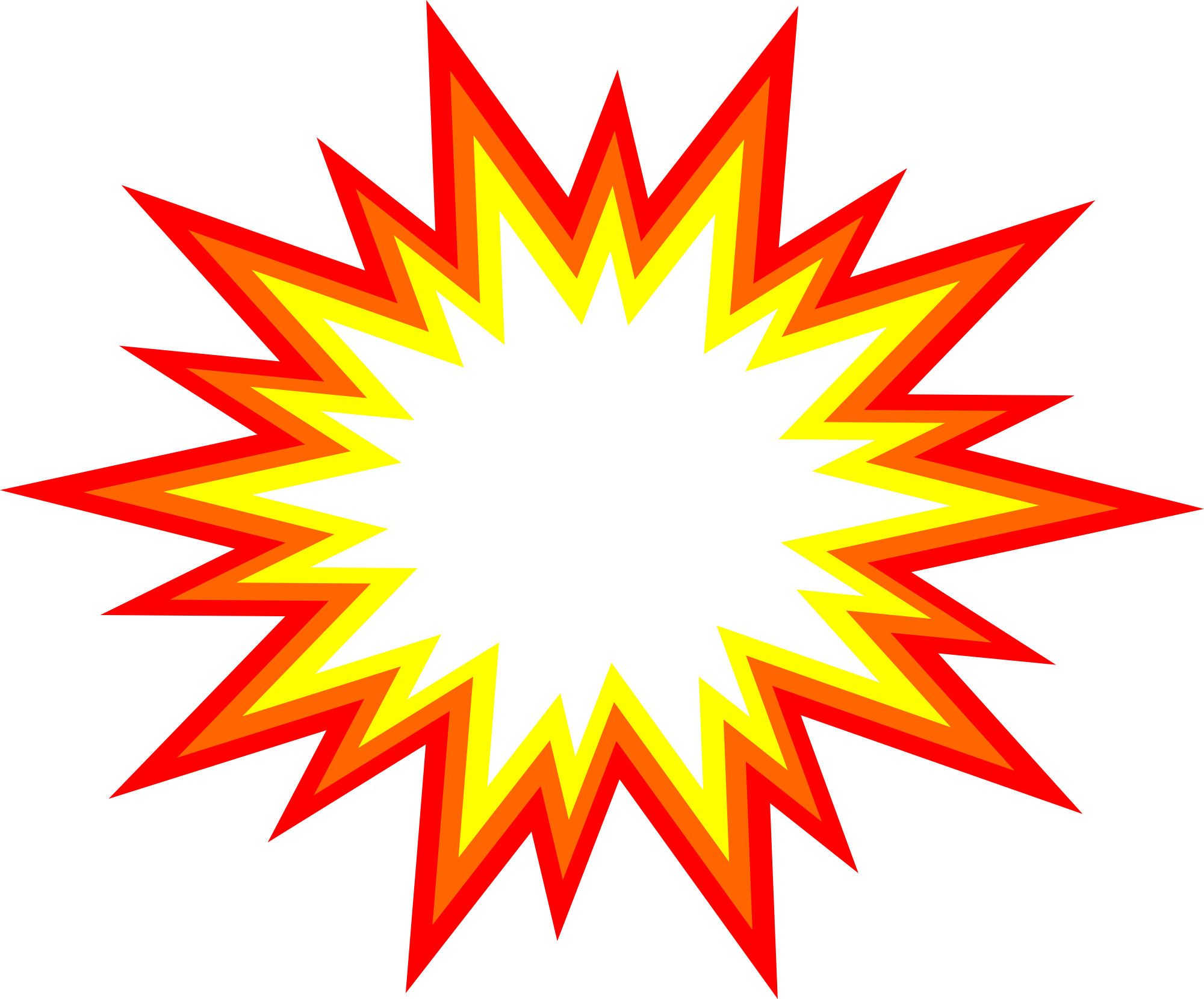starburst explosion comic. Vector images png
