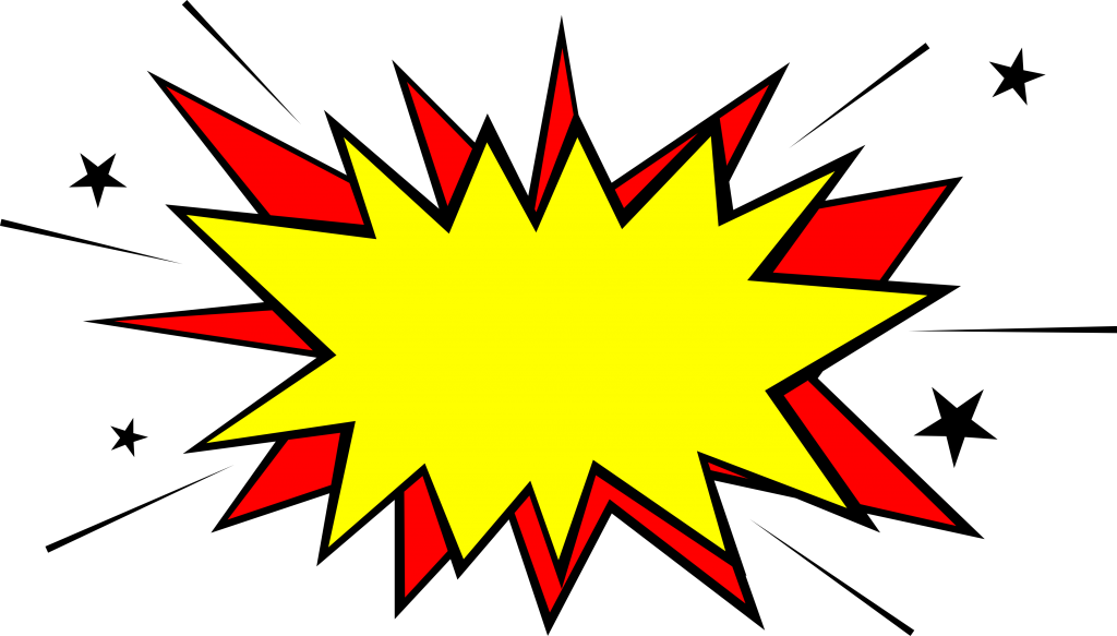 Boom star explosion images. Burst clipart comic book