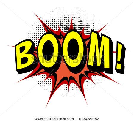 Comic book . Boom clipart stock
