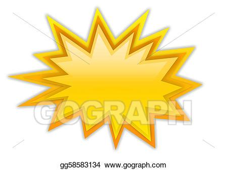 Illustration splash star drawing. Boom clipart stock