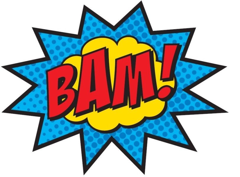 Burst clipart pow. Boom superhero clip art