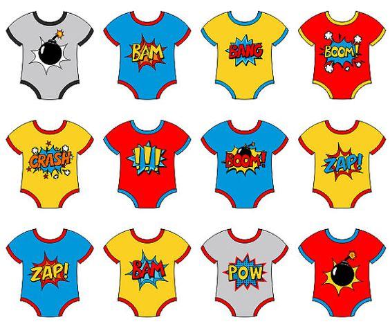 Baby superhero onesies clip. Boom clipart superheroclip