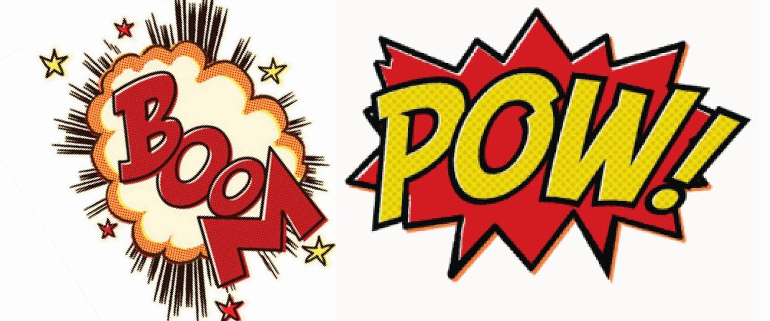 Boom clipart superheroclip. Superhero words free download