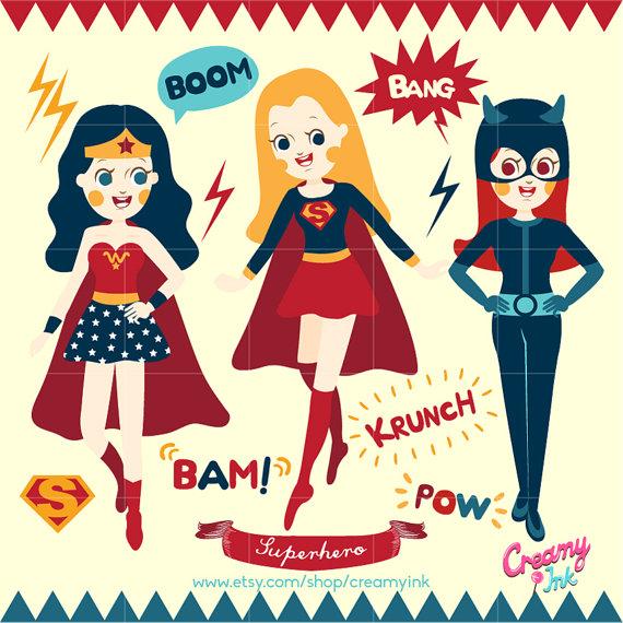 Boom clipart superheroclip. Superhero party digital vector